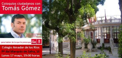 TOMÁS GÓMEZ, EN EL DISTRITO DE SALAMANCA