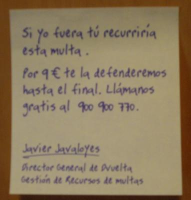 POST-IT ANTIMULTAS