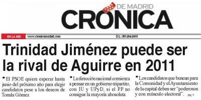 GLOBO SONDA SOBRE TRINI PARA MADRID
